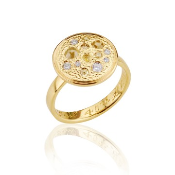 Yellow Diamond Meteor Ring