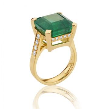 14ct Emerald Ring