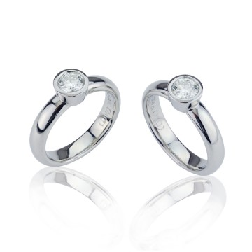 Matching Platinum Diamond Engagement Rings