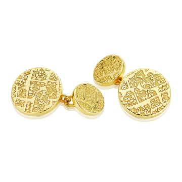 London 1593 Silver Gilt Chain Cufflinks