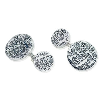 London 1593 Silver Chain Cufflinks