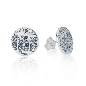 London 1593 Large Silver Studs