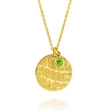 London 1593 Gilt & Peridot Pendant
