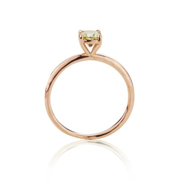 18ct Red Gold Old Cut Diamond Ring