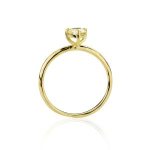 18CT Yellow Gold Old Cut Diamond Ring