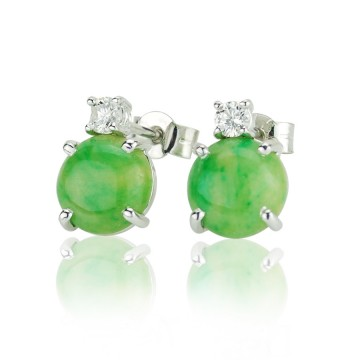 Jade & Diamond Earrings