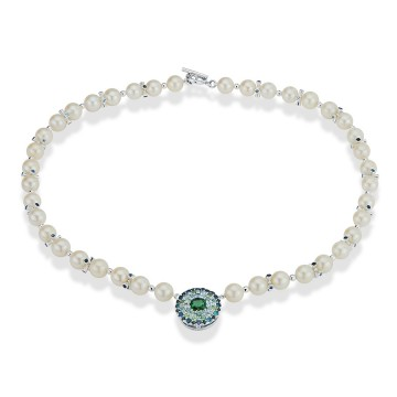 Pearl & Tourmaline Necklace
