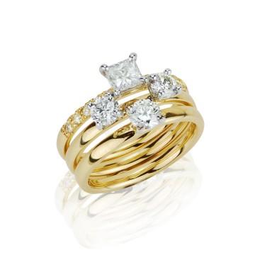 Stacking Contemporary Diamond Rings