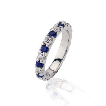 Sapphire & Diamond Full Eternity Ring