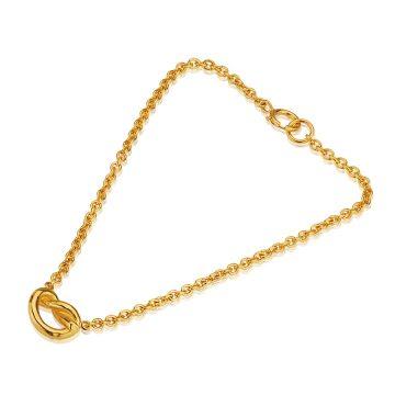 Love Knot Silver Gilt Bracelet