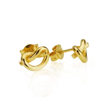Love Knot Silver Gilt Earrings
