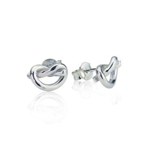 Love Knot Silver Earrings