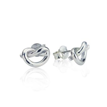 Love Knot Silver Earrings