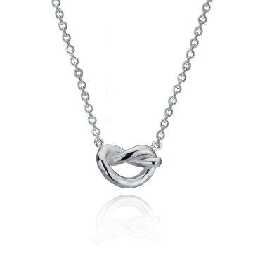 Love Knot Silver Pendant