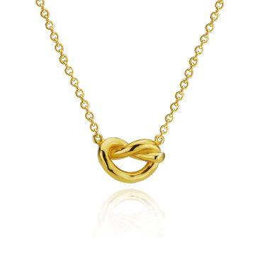 Love Knot Silver Gilt Pendant