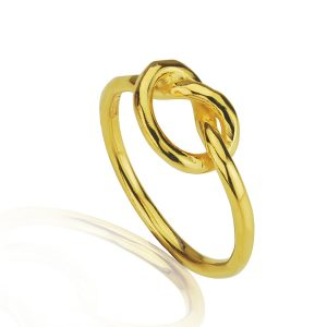 Love Knot Silver Gilt Ring