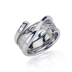 18CT White Gold Ring Holder