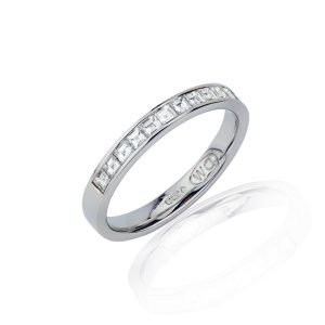 Slim Profile Princess Cut Diamond Eternity Ring