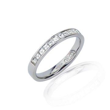 Slim Profile Princess Cut Diamond Eternity Ring