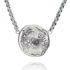 Silver Doubloon Framed Heavy Pendant