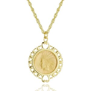 American Eagle Filigree Coin Pendant