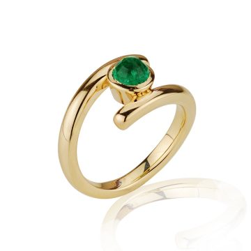 Emerald Wrap Ring
