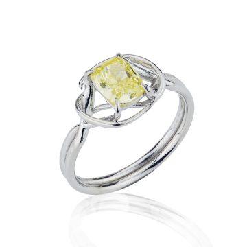 Yellow Diamond Vine Engagement Ring