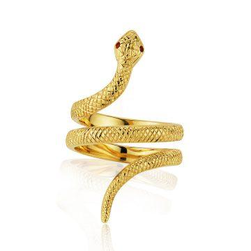 Hand Engraved Snake Ring