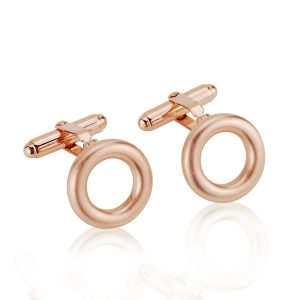 Hoop Gilt Rose Gold Cufflinks