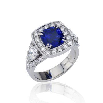 Cushion Sapphire & Diamond Dress Ring