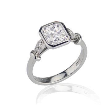 Vintage Style Diamond Engagement Ring