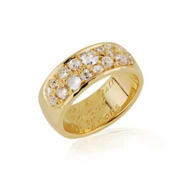 Old Cut Pave Set Wide Ring