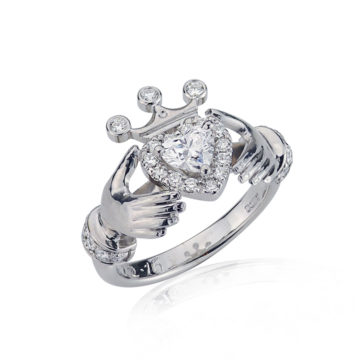 The Ultimate Claddagh Diamond Ring