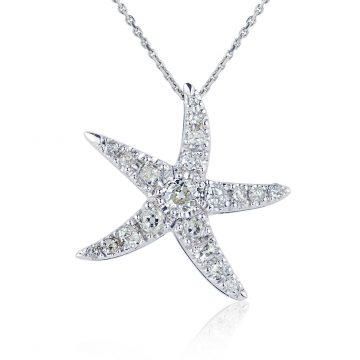 Starfish Diamond Pendant