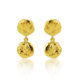 Nugget Gilt Drop Earrings