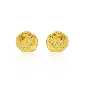 Nugget gilt stud earrings