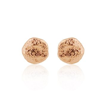 Nugget rose gold gilt stud earrings