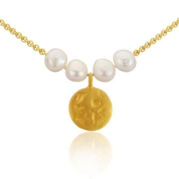 Pearl and coin pendant