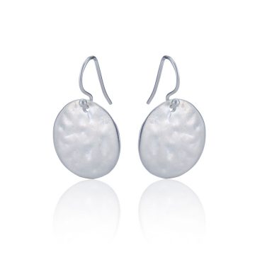 Pearl and coin silver drop earrings