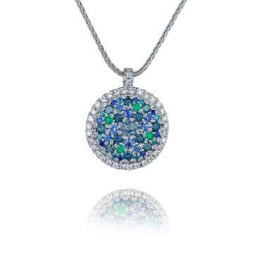 Birthstone family pendant