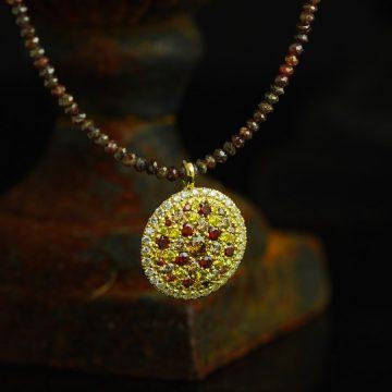 Cognac diamonds necklace