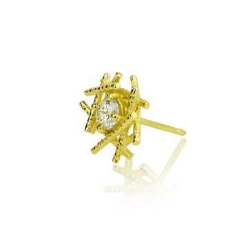 18ct yellow gold Sticks And Stones Diamond studs