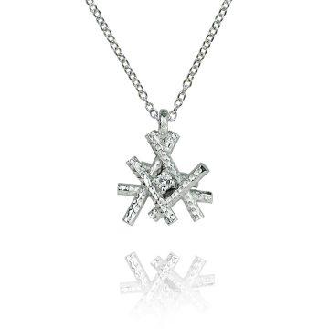 Sticks and stones platinum pendant